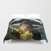 child Duvet Covers featuring Thunder child by HappyMelvin