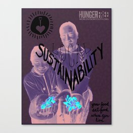 Hungerfree - local sustainability Canvas Print