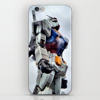 gundam iPhone & iPod Skins featuring Gundam Pride by Julie Maxwell
