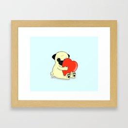 PugHugs Framed Art Print