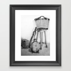 hand drawing objects Framed Art Print