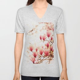 Cherry Blossoms Unisex V-Neck