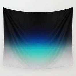 Blue Gray Black Ombre Wall Tapestry