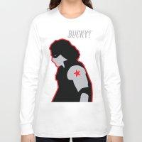 bucky barnes Long Sleeve T-shirts featuring Bucky? by ElectricShotgun