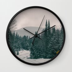 Lost in Winter Wall Clock