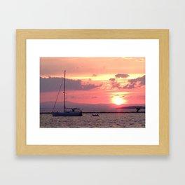 Sailing at Sunset Framed Art Print