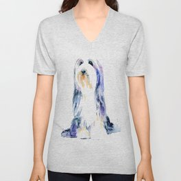Bearded Collie Unisex V-Neck