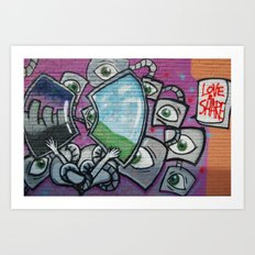 Love & Share Art Print