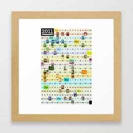 2011 Calendar of Famous People I Like Framed Art Print