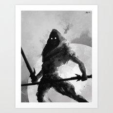 Dual-wielding Swordsman Art Print