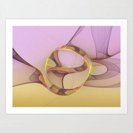 Abstract Motions, Modern Fractal Art Art Print