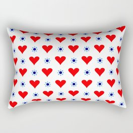 heart and star 5 - blue star and red heart Rectangular Pillow