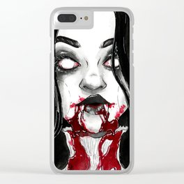Drooling - Inktober Clear iPhone Case