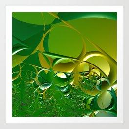 Sunrays through the grasses - An abstract illustration  Art Print