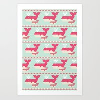 Triangwhales Art Print