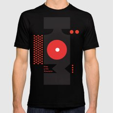 King of the Mountains, Abstract 1 MEDIUM Black Mens Fitted Tee