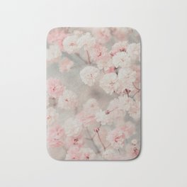 Gypsophila pink blush Bath Mat