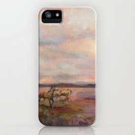 Horse Art Mustangs Under The Big Sky iPhone Case
