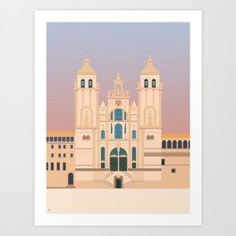 Santiago de Compostela Cathedral, Camino de Santiago, Galicia, Spain Art Print