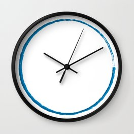 Painted Blue Roundabout  Wall Clock