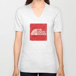 THE CRATE DIGGER FACE Unisex V-Neck