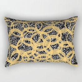 Abstract Beehive Yellow & Black Pattern Rectangular Pillow