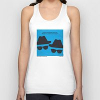 blues brothers Tank Tops featuring No012 My Blues brothers minimal movie poster by Chungkong