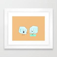 Ice cube problems Framed Art Print