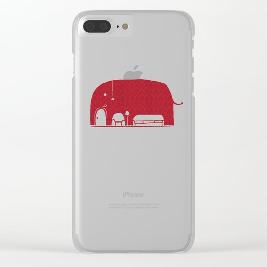 Elephanticus Roomious Clear iPhone Case