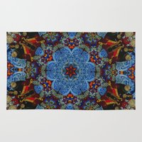 doberman Area & Throw Rugs featuring Ornament by Кaterina Кalinich