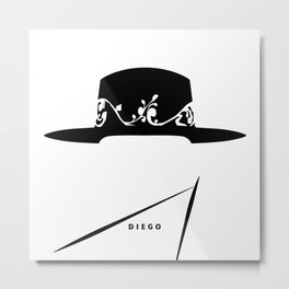 A Hat's Society - Diego Metal Print