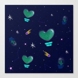 Cactus Space Canvas Print