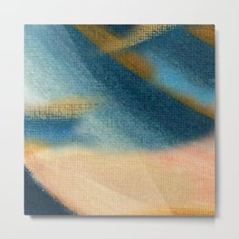 Wind and Rain - acrylic abstract with pink, blue, and brown Metal Print