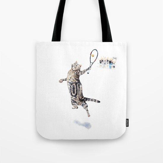 Cat Playing Tennis by evgeniya