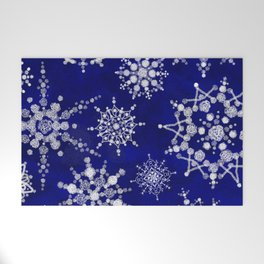 Snowflakes Floating through the Sky Welcome Mat
