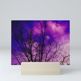 Trees Sinking in Purple Mini Art Print