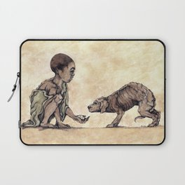 Boy and Puppy Laptop Sleeve