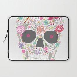 Art Skull Flower Laptop Sleeve