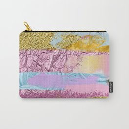 Purple Plum Gold & Blue Brushes Carry-All Pouch