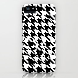 HOUNDSTOOTH SKULL #2 iPhone Case