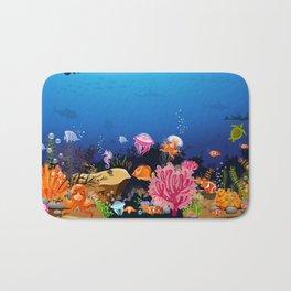 Beautiful Coral Reef Animals Bath Mat