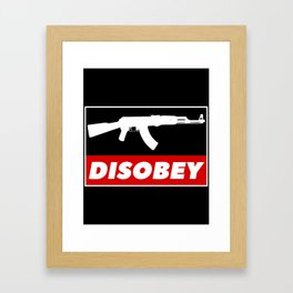 DISOBEY Framed Art Print