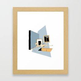 Floor Door | Blue Framed Art Print