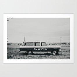 El Cosmico Car, Marfa TX Art Print