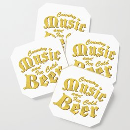 Country Music and Beer Funny Musicians Gifts Coaster