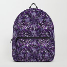 Floral Future Crazy Purple Pattern Backpack