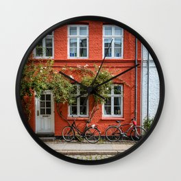 Colors of Copenhagen Wall Clock