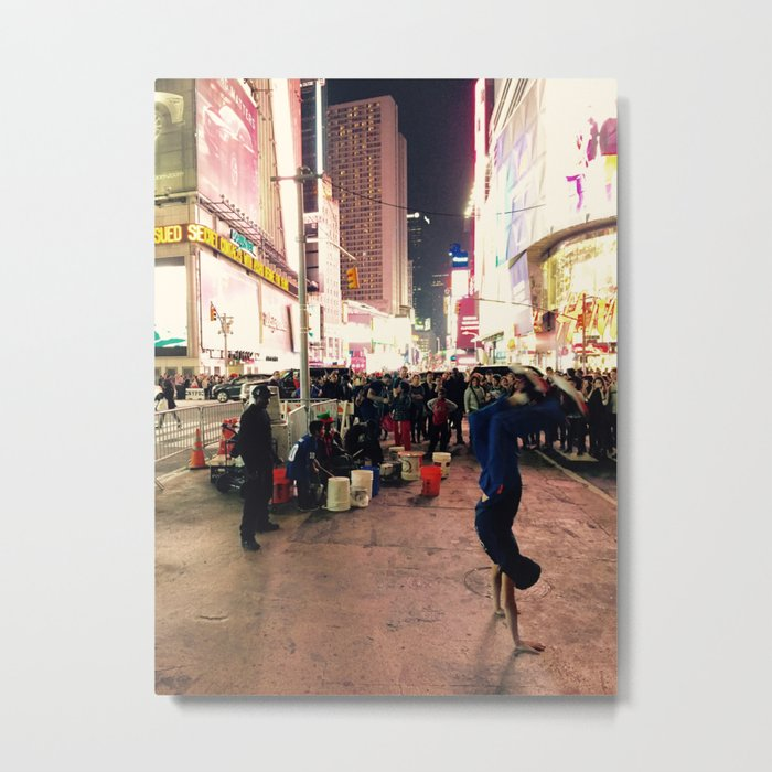 New York City Street Performer Handstand Metal Print