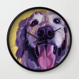 A Dog's Joy Golden Retriever Portrait Wall Clock