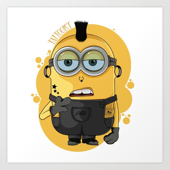 Minion Tattooist Art Print